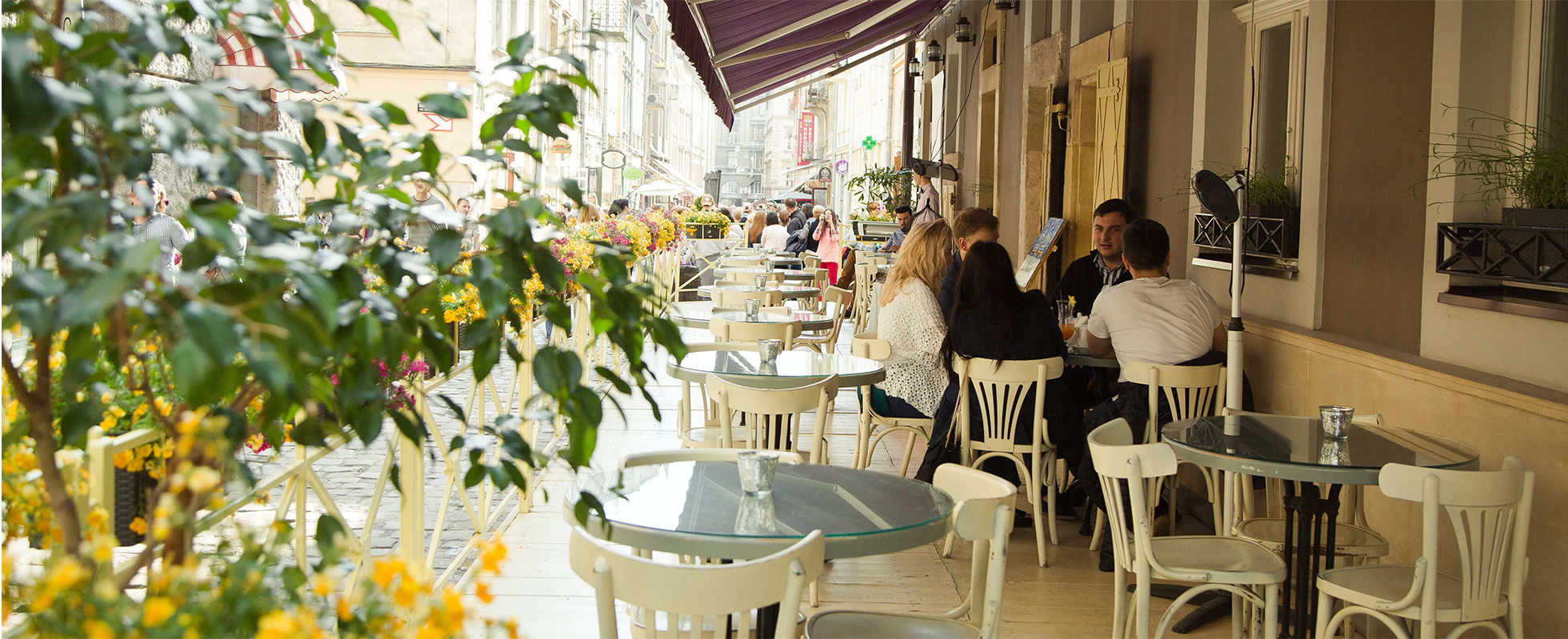 Summer terrace at the hotel
